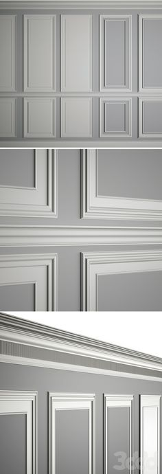 models: Decorative plaster - Moldings on the walls paneele Decor, House Design, Wall Molding, Interior, Interior Walls, Home Decor, House Interior, Interior Design, Wall Design
