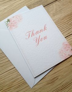 100 Thank You Cards Ruffle Peony Suite by eefaa on Etsy Peony, Thank You Cards, The 100, Unique Jewelry, Handmade Gifts, Design, Appreciation Cards, Kid Craft Gifts, Craft Gifts