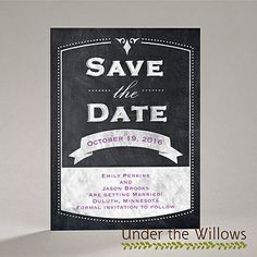 Old School - Save the Date Card | Invitations By Dawn