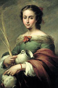 Santa Regina, Francisco Zurbaran, Esteban Murillo, Pagan Gods, Monalisa, Spanish Painters, Spanish Artists, Wow Art, Art Database