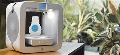 The third generation Cube® 3D WHITE printer offers a new, compact design, dual color printing, a choice of 23 print colors in ABS and PLA plastics, touch-screen controls, printing direct from your mobile device and print speeds 2 times faster than other printers.