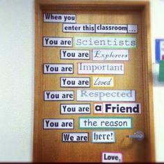 Cool door/welcome bulletin board idea!