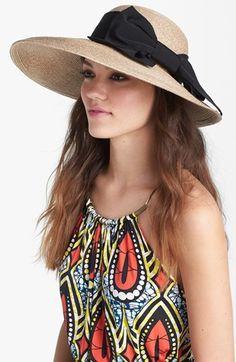 asymmetrical straw hat