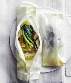 Trumpeter with curry butter and leek recipe - Place kipflers in a saucepan, cover with cold water and bring to the boil, then cook until a knife can be inserted easily but the potatoes still retain some firmness (8-10 minutes).