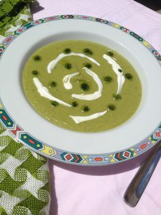 Supa crema de mazare Plates, Supe, Tableware, Licence Plates, Dishes, Dinnerware, Griddles, Tablewares, Dish