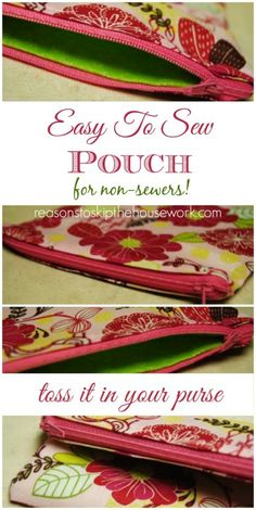 This zipper pouch is easy enough, I was able to sew it and I'm a non-sewer!
