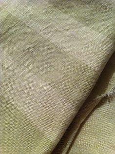 Rachel Ashwell Shabby Chic ™ Cabana Butter Sage Stripe Linen Fabric