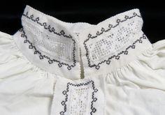 DigitaltMuseum - Skjorte frå Sogndal Scandinavian Embroidery, Head Pieces, Bridal Crown, Aprons, Textile Art, Folk Art, Textiles, Stitch, Unique