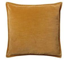 Washed Velvet Pillow Cover   Pottery Barn