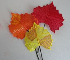 Pam's 3D Mylar Fall Leaves 1-3