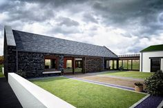 """BMCA Architects Limited created a replacement concept design for this dwelling inspired by traditional forms and layout of the existing and former """"central hearth byre dwelling"""""""