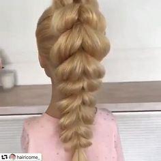Braids For Thin Hair, Hairdo For Long Hair, Easy Hairstyles For Long Hair, Hair Ponytail Styles, Ponytail Hairstyles, Party Hairstyles, Wedding Hairstyles, Medium Hair Styles, Short Hair Styles