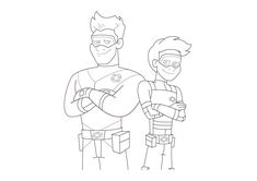 The Adventures Of Kid Danger Coloring Sheets