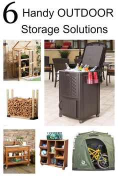 Keep your outdoor space tidy, neat and safe with these 6 handy outdoor storage solutions. #spon