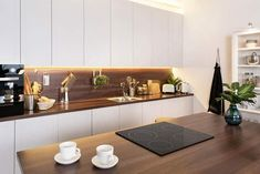 Modern Kitchen Design, Kitchen Designs, Electric Cooktop, Cuisine Design, Kitchen Design, Contemporary Kitchen Design