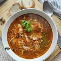 """Marzena Wójcicka - Drygała na Instagramie: """"Smaczne, rozgrzewające a'la flaczki drobiowe polecają się na nieciekawą, chłodną aurę tej wiosny 😉 Składniki: - ok litra wywaru mięsnego (…"""" Curry, Ethnic Recipes, Food, Curries, Essen, Meals, Yemek, Eten"""