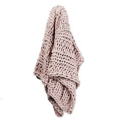 Home Republic - Chunky Knit Rib Throw Dusty Pink - Homewares Throws & Bed Runners - Adairs Online
