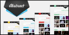 Abstract - Portfolio Design by HorizonCreative Abstract is an easy to customize PortfolioPSDTemplate. Suitable for creative agencies, photographers or art inclined businesses.