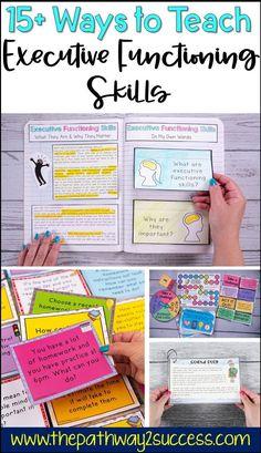 15 strategies and supports for teachers to integrate and teach executive functioning skills with their students! Activities, ideas, resources, and free printables are included to help every educator provide interventions for students struggling with organization, time management, self-control, task initiation, and more. Executive functions impact kids and teens with social skills, academics, and more. #executivefunctioning #education Teaching Study Skills, Teaching Kids, Kids Learning, Learning Styles, Social Emotional Learning, Social Skills, Social Work, Social Issues, Learning Support