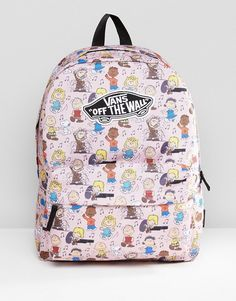 391dd17586f Vans X Peanuts Dance Party Realm Backpack In Pink