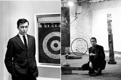 Jasper Johns & Robert Rauschenberg  Jasper Johns and Robert Rauschenberg were lovers for 6 years starting in 1955. Both artists were painters and printmakers who became influential members of the contemporary art scene in New York, alongside the likes of Merce Cunningham and John Cage.