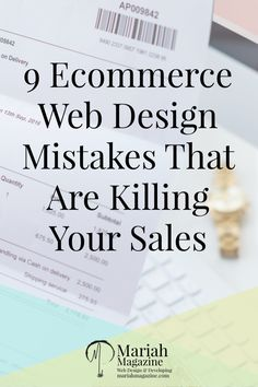 Are you making these common mistakes on your eCommerce website? If you are, they could be killing your sales. via @mariahmagazine