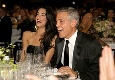 Pin for Later: 22 Times George and Amal Clooney Looked Madly in Love  George and Amal laughed out loud during a charity event in Florence, Italy, in September 2014.