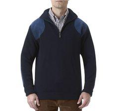 Storm Half Zip Sweater in Navy by Barbour - FINAL SALE