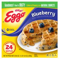 Eggo Waffles, Blueberry Waffles, Frozen Waffles, Pancake Sausage, Vitamin Packs, Frozen Breakfast, New Flavour, Vitamins, Tasty