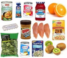Shopping list and meal plan for eating HEALTHY for 7 days on only $30. #healthy