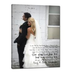 GREAT anniversary gift - LOVE it! canvas art with photo and wedding song, or wedding vows