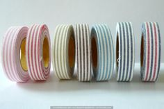 Stripe Fabric Decorative Tape $5.50 place cards for wedding dark blue and white