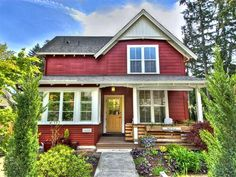 red and blue exteriors of house | compact modern house with beautiful accent washington red house house ...