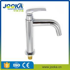 Single open long neck faucet with long spout