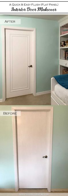 An Easy & Inexpensive Way To Update Flush (Flat Panel) Interior Doors With Moulding
