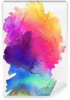 Vinyl-Fototapete Aquarell Regenbogen abstrakt verlauf