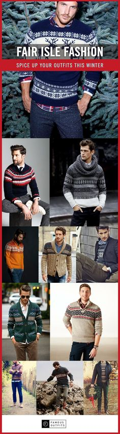 Enjoy this collection of men's fair isle sweaters and get inspiration.