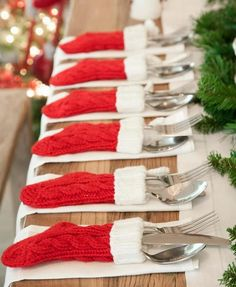 mesa simples e charmosa para natal - Pesquisa Google