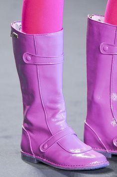Anna Sui Pink Patent Boots Fall 2013