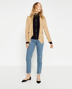 8f01e9f323 Image 1 of SUEDE-EFFECT JACKET from Zara Outerwear Women