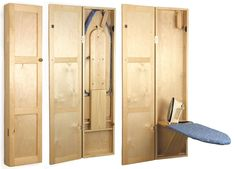 wooden ironing board storage - Google Search