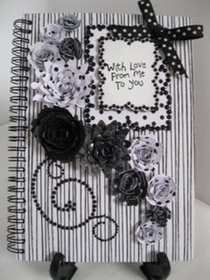 Striking black and white notebook .. perfect small gift
