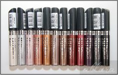 Rimmel-ScandalEyes--Shadow-Paints (Allura). Definitely want Pomegranate, Berry Chrome, and Manganese Purple. $5 each