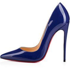 Christian Louboutin So Kate Blue Stilettos, Blue High Heels, Blue Pumps, Shoes Heels Pumps, Stiletto Shoes, Louboutin Shoes, Navy Heels, Blue Shoes, Women's Shoes