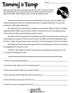 Medicine Safety: Tammy's Temp by Health EDventure Teacher Resources, Classroom Resources, Classroom Decor, Health And Physical Education, Hands On Activities, Learning Activities, Teaching Grammar, Student Reading, Sight Words