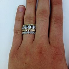 Luxury new wedding rings Unique stackable wedding rings