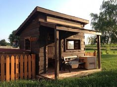 31 Free DIY Playhouse Plans to Build for Your Kids' Secret Hideaway Kids Playhouse Plans, Outside Playhouse, Backyard Playhouse, Build A Playhouse, Western Saloon, Cubby Houses, Play Houses, Building A Shed, Building Plans
