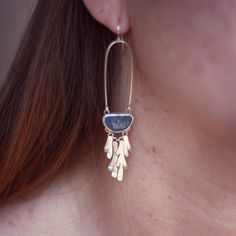 Lichen Fringe Earrings Coral | Moira K. Lime Jewelry