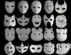 Unpainted plain/blank version Paper Pulp Mask SNA006c90