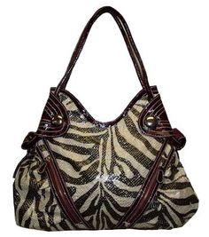 Glitter Zebra Hobo